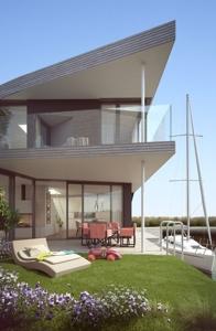 Seehaus mit Garten
