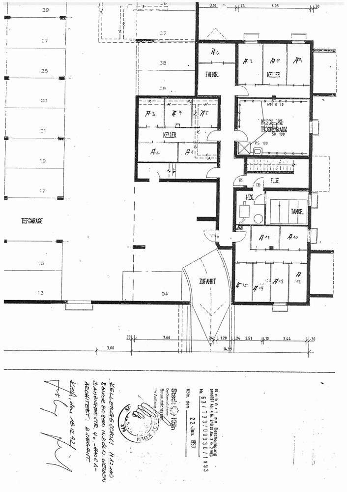 Kellerplan Haus A