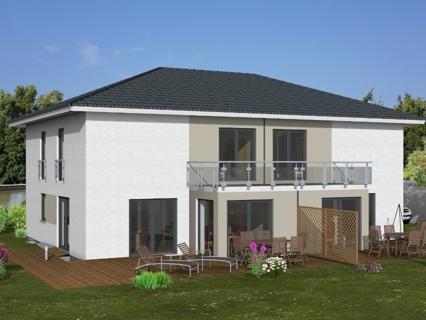 Doppelhaus Gartenseite