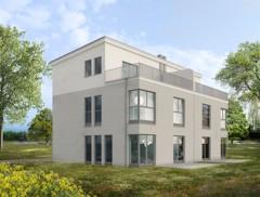 Exklusive Doppelhaushälfte (rechts) auf herrlichem Baugrundstück mit perfekter Süd-/Westausrichtung