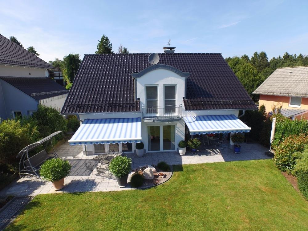 Immobilie Drohnenaufnahme Garten
