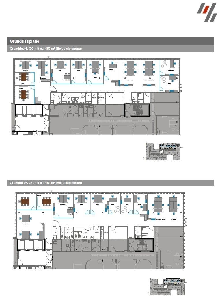SKAI Grundriss 6. OG (ca. 450 m²)