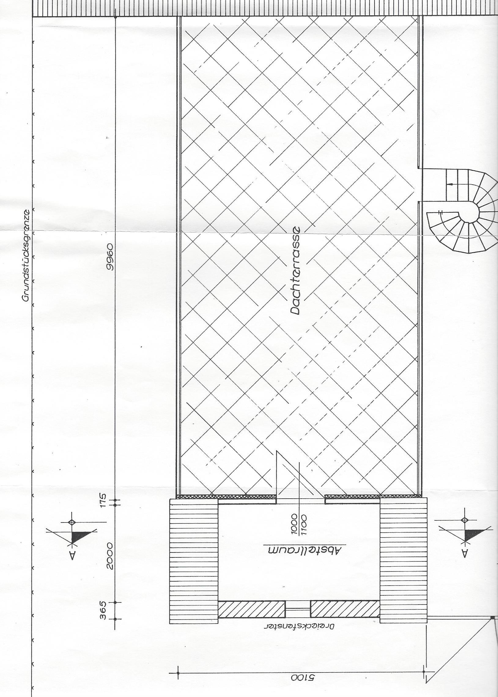 Grundriss-Dachterrasse