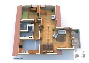 3D Grundriss 1. Ebene