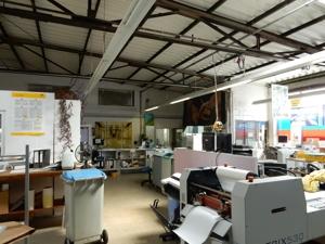Gewerbehalle derzeit als Druckerei genutzt