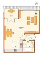 Dachgeschoss-Apartment mit Terrasse und Aufzug in der Pegasusstraße 2 in Bernau zu vermieten.