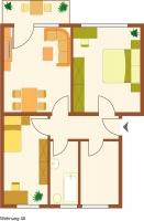 Kapitalanlage, vermietete 3-Zimmerwohnung mit Südbalkon, 16321 Bernau, Bruttorendite: 7,7%