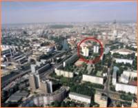 Luftbild mit Kreis