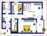 Bezugsfreie 3-Raum Whg, 7. Etage, Balkon u. Aufzug  - Invalidenstr./Berlin-Mitte