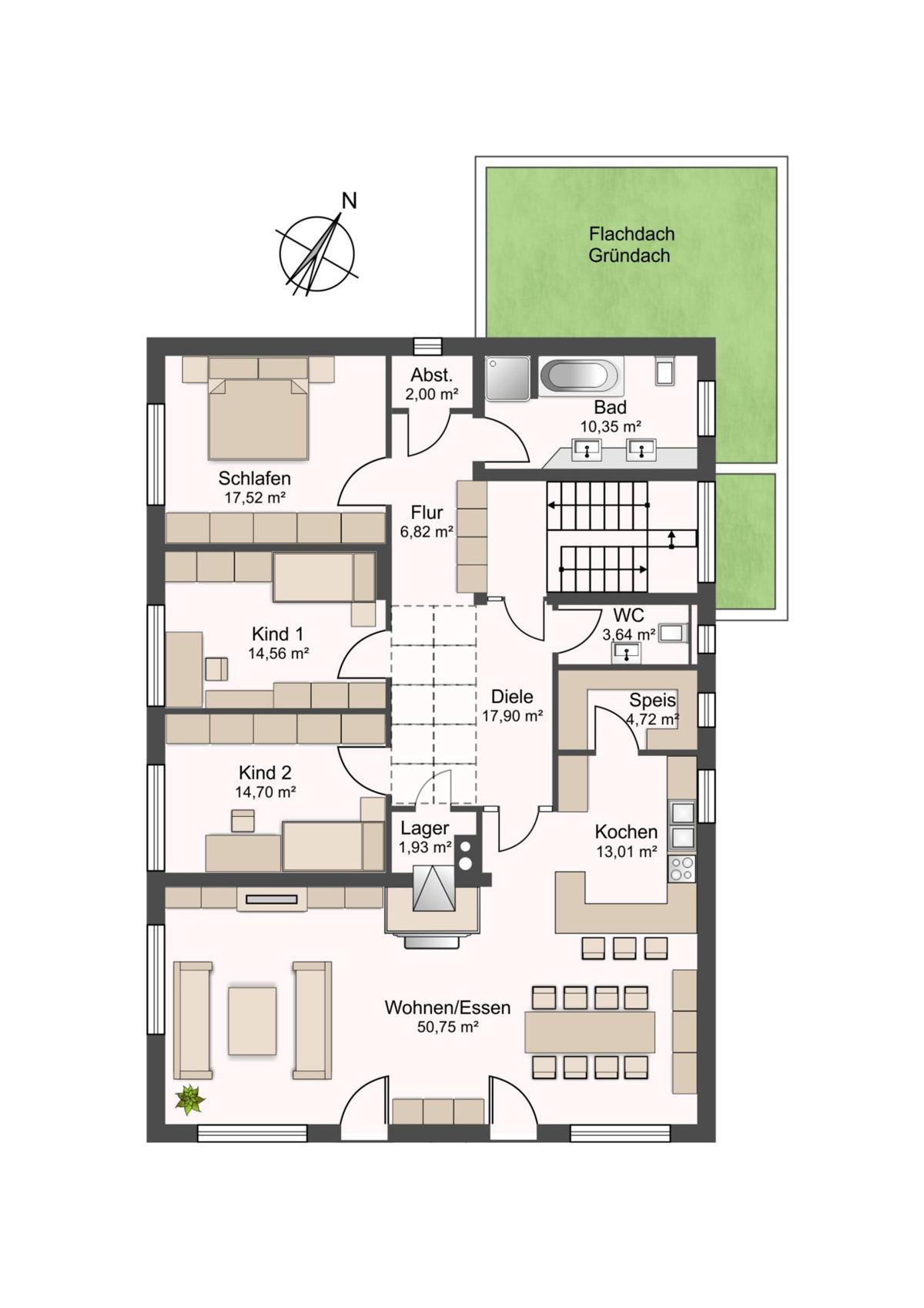 Obergeschoss - Wohnen - Praxis - Büro