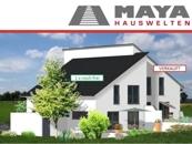 Maya-Pultdach Gartenansicht