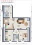 Grundriss der 3-Zimmer-Wohnung