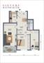 Grundriss der 3-Zimmer-Wohnung in Südlage