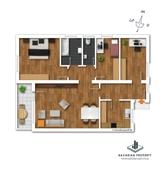 Dem Grundriss ist ausschließlich die Raumaufteilung zu entnehmen.