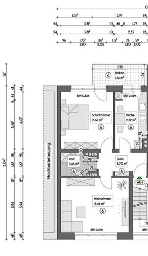Grundriss Etage 2 links - WE 6