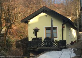Blick auf das schmucke Haus