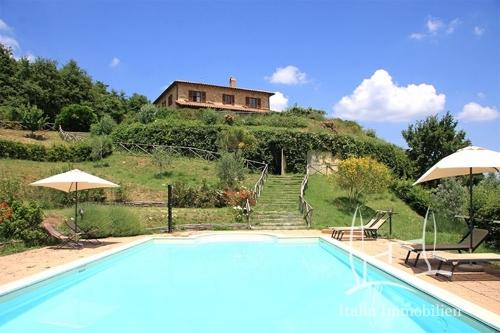 Alleinlage! Restauriertes, elegantes Landhaus mit großem Panoramapool, Weinberg und Olivenhain (1)