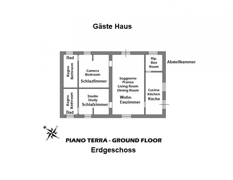 Bezugsfertiges Landhaus mit Gästehaus und Swimmingpool in Alleinlage (2)