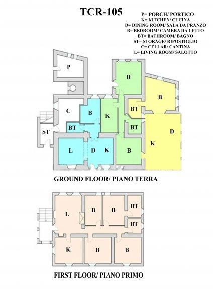 Entzückendes Bauernhaus mit 4 Wohnungen, Panoramapool und 5,5ha Land in der Val d'Orcia (2)