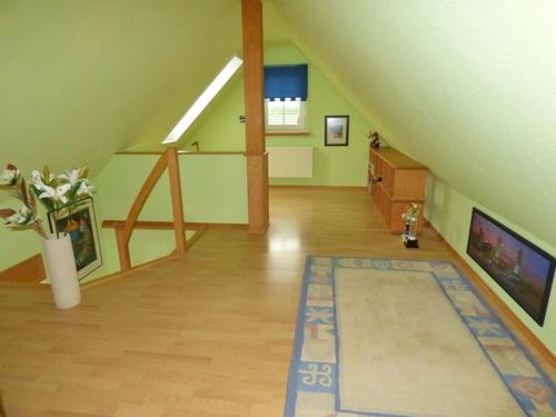 Schicker Ausbau auch im Dach