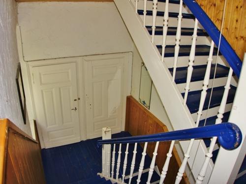 Rustikales Treppenhaus