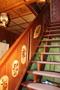 Treppe mit Intarsien