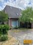Haus hinten mit Teich