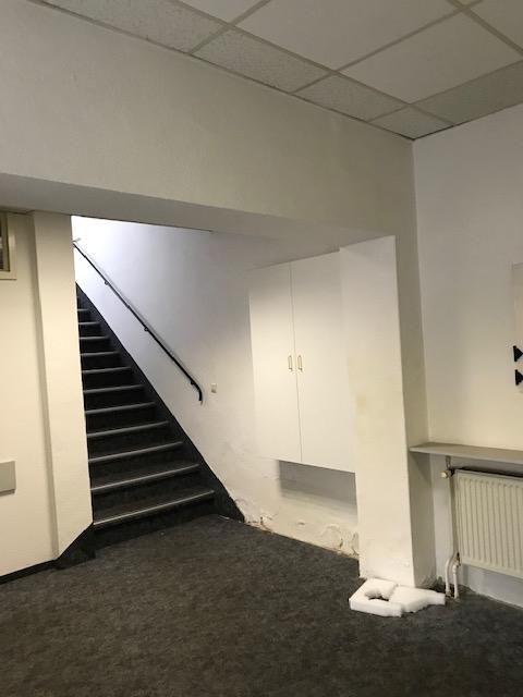 seitlich angelegtes Treppenhaus