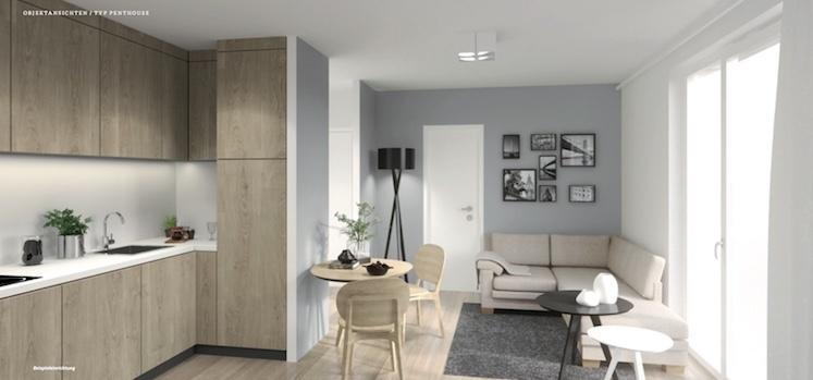 Penthouse-Beispiel-Kücheneinrichtung
