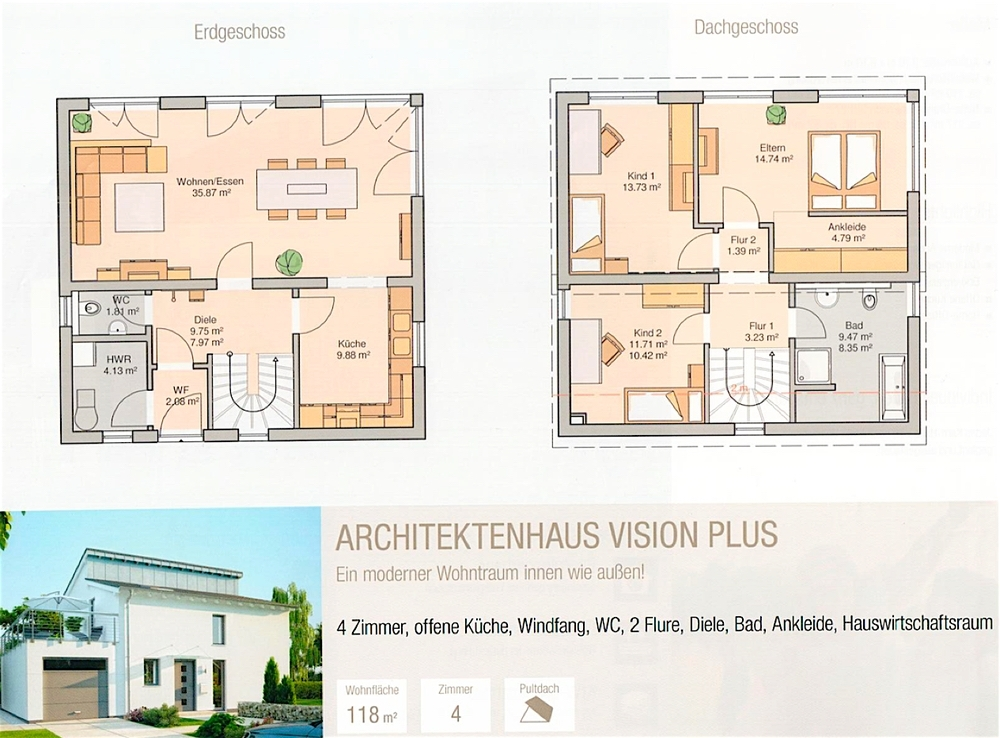 Vision Plus Haus Grundrisse
