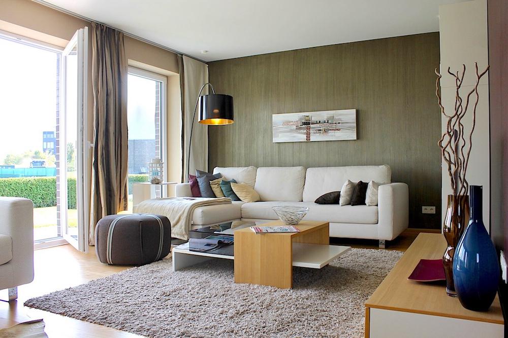 Wohnzimmer- Einrichtungsbeispiel