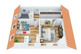 Dachgeschoss 1_Perspektive