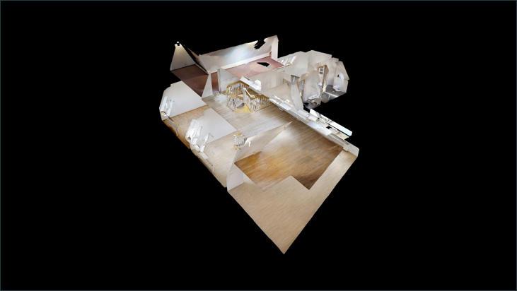 3D-Modell der Maisonette-Wohnung