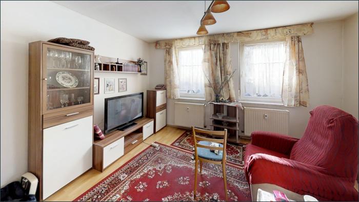 vermietete Wohnung im EG, Wohnraum