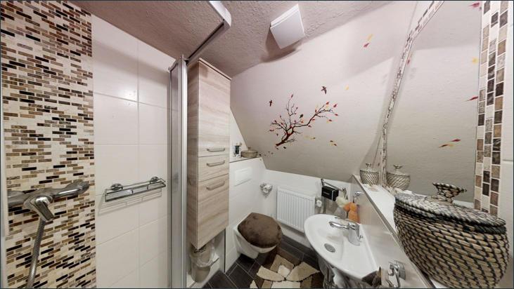 Bad mit Dusche & WC im OG