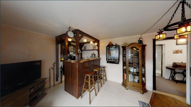 Wohnzimmer im Kellergeschoss