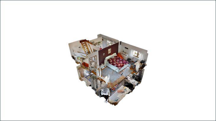 3D Modell Wohnung im Eingang links