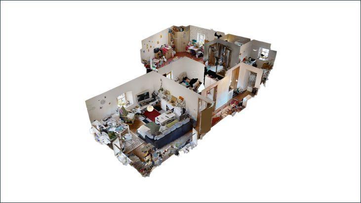 3D Modell Wohnung im 1. OG (Eingang rechts)