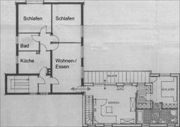 1. Obergeschoss, Bestandsgebäude + Anbau 1