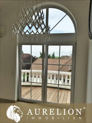 Ausblick vom Balkon auf die Stiftkirche