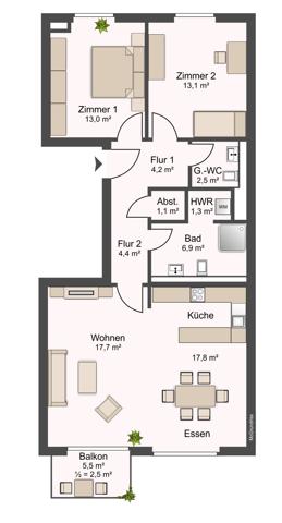 2. Obergeschoss links_ohne