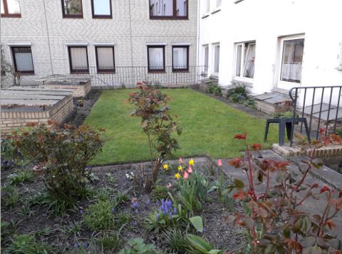 ruhiger, grüner Innenhof