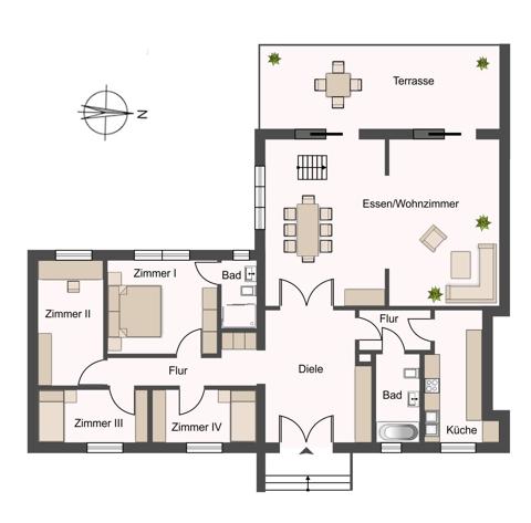 Erdgeschoss links