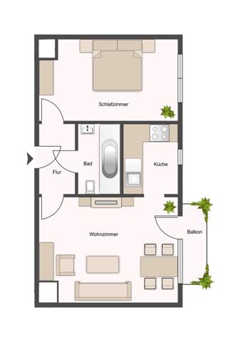 1. Obergeschoss Mitte