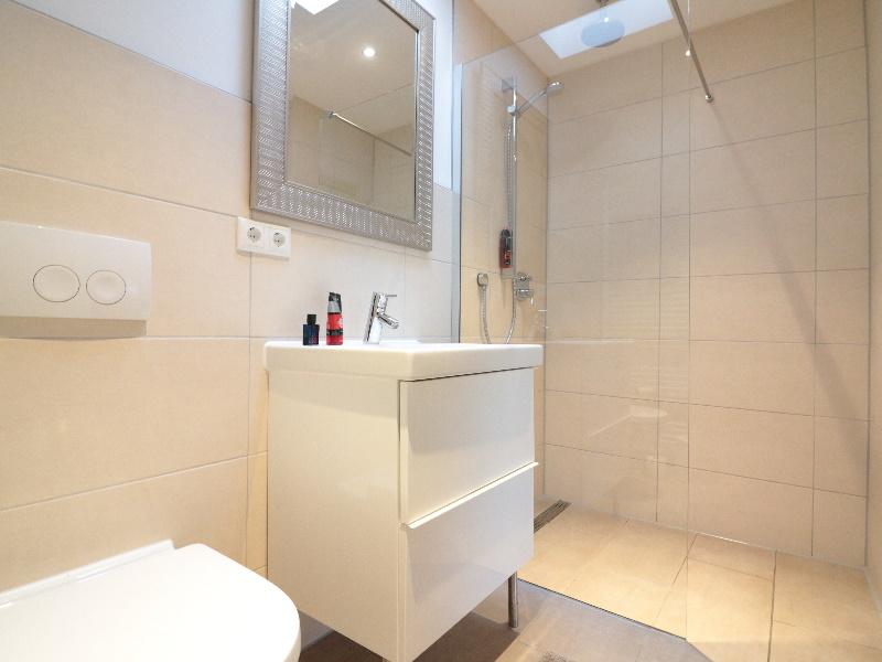 Modernes Duschbad mit Oberlicht