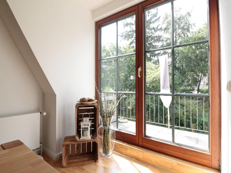 Blick auf den Balkon Wohnung 3