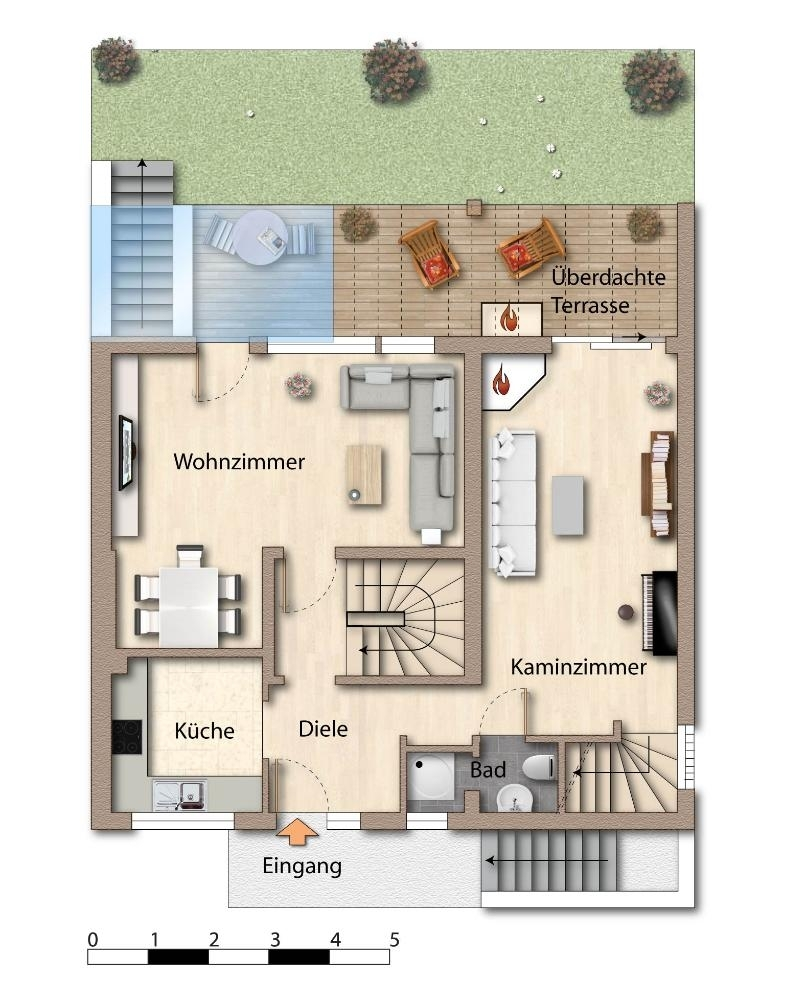 Skizze - Grundriss - Erdgeschoss