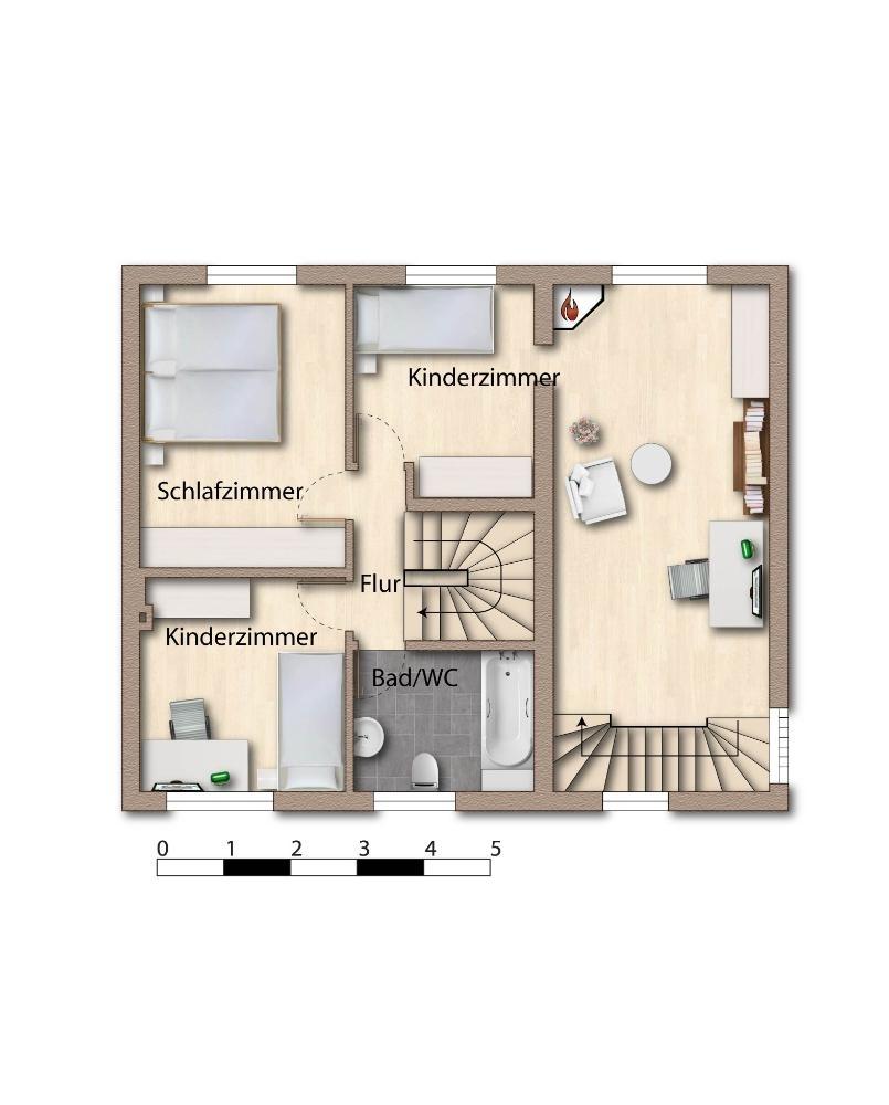 Skizze - Grundriss - Dachgeschoss