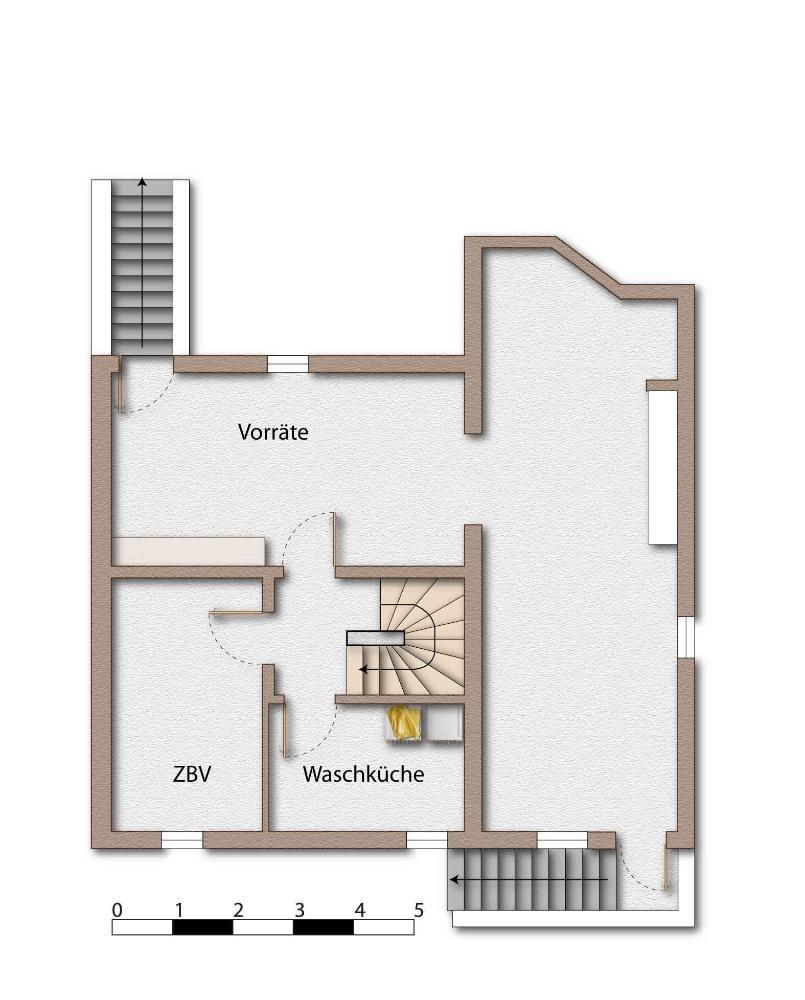 Skizze - Grundriss - Kellergeschoss