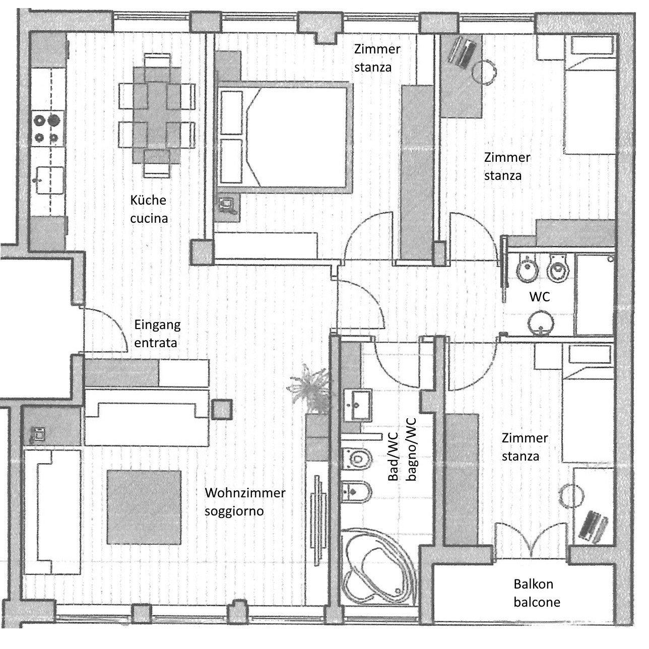 Plan der Wohnung